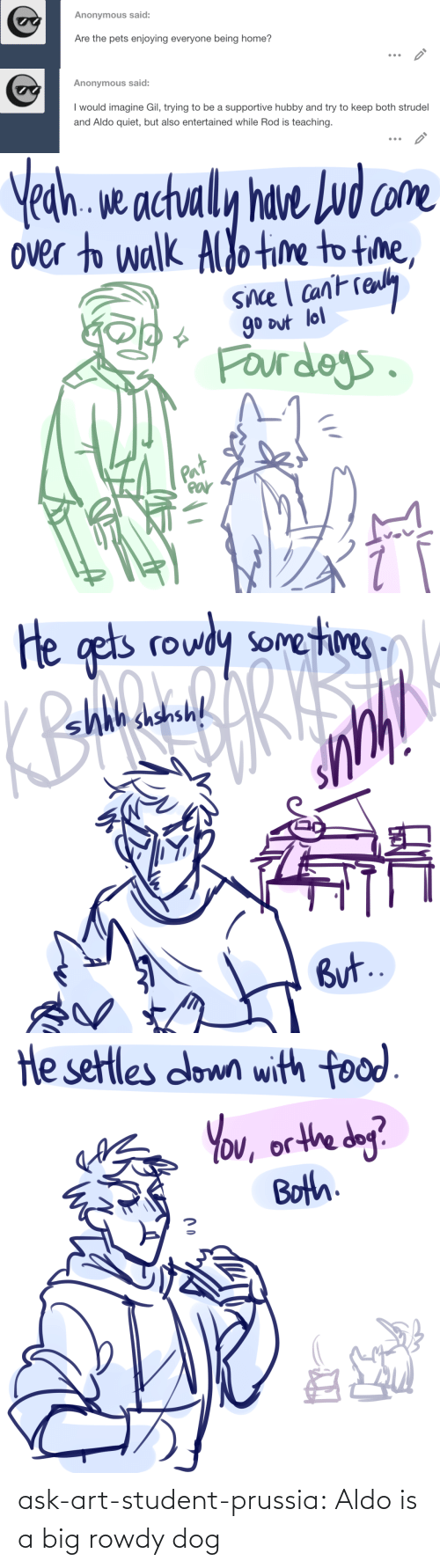 Prussia: ask-art-student-prussia:  Aldo is a big rowdy dog