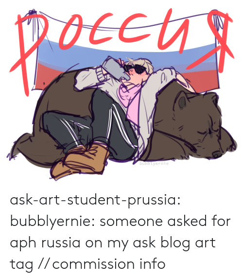 Target, Tumblr, and Blog: ask-art-student-prussia:  bubblyernie: someone asked for aph russia on my ask blog art tag // commission info