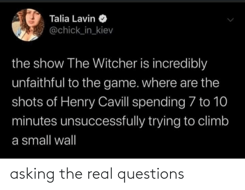 real: asking the real questions