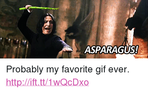 "Favorite Gif: ASPARAGUS! <p>Probably my favorite gif ever. <a href=""http://ift.tt/1wQcDxo"">http://ift.tt/1wQcDxo</a></p>"