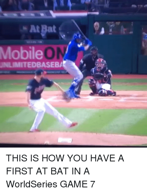 Mlb, Game, and Games: At pat  Mobile  DBASEBA THIS IS HOW YOU HAVE A FIRST AT BAT IN A WorldSeries GAME 7