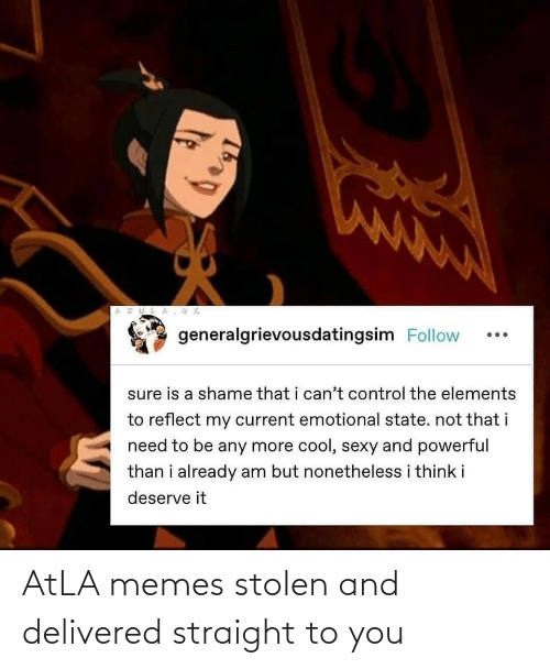 straight: AtLA memes stolen and delivered straight to you