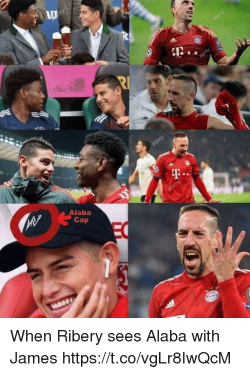 ribery: Au  IN.  Alaba  Cap When Ribery sees Alaba with James https://t.co/vgLr8IwQcM