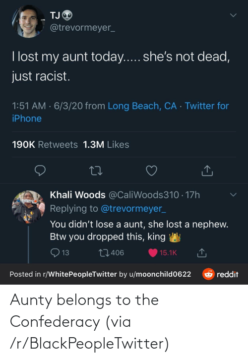 R Blackpeopletwitter: Aunty belongs to the Confederacy (via /r/BlackPeopleTwitter)