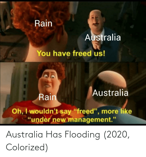 Australia: Australia Has Flooding (2020, Colorized)