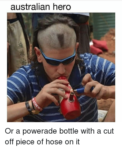 powerade: australian hero Or a powerade bottle with a cut off piece of hose on it