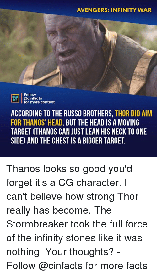 """Facts, Head, and Lean: AVENGERS: INFINITY WAR  Follow  ONENA  R00İ 