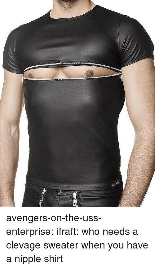 Enterprise: avengers-on-the-uss-enterprise: ifraft:  who needs a clevage sweater when you have a nipple shirt