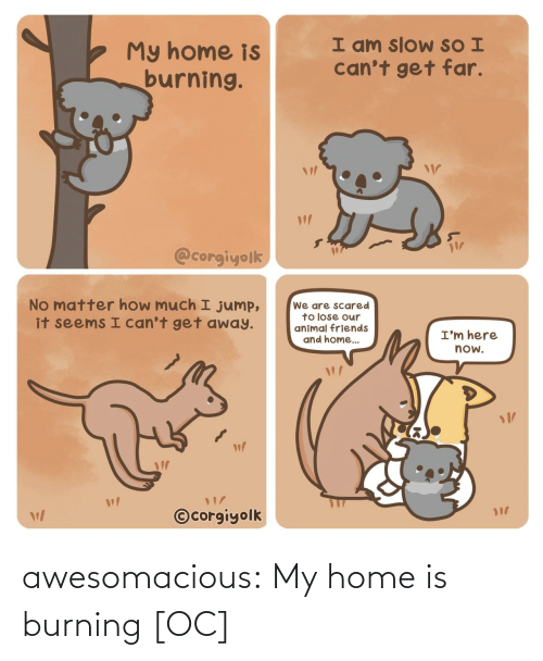 tumblr: awesomacious:  My home is burning [OC]