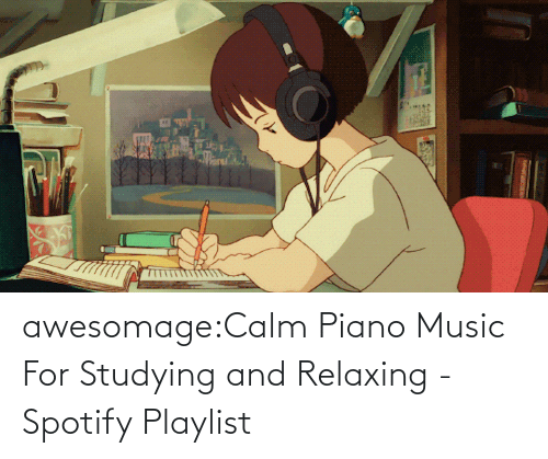 relaxing: awesomage:Calm Piano Music For Studying and Relaxing - Spotify Playlist
