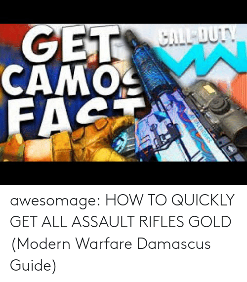 guide: awesomage:  HOW TO QUICKLY GET ALL ASSAULT RIFLES GOLD (Modern Warfare Damascus Guide)
