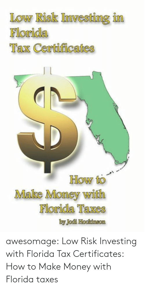 tax: awesomage:  Low Risk Investing with Florida Tax Certificates: How to Make Money with Florida taxes