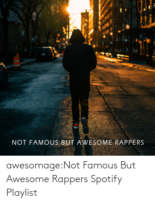 Tumblr, Spotify, and Blog: awesomage:Not Famous But Awesome Rappers Spotify Playlist