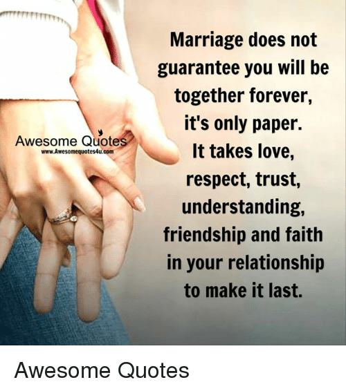 Awesome Quote wwwAwesomequotes4ucom Marriage Does Not ...