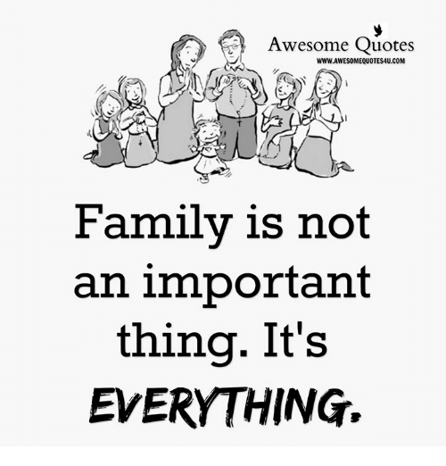 Awesome Quotes Www Awesomequotes4ucom Family Is Not An Important