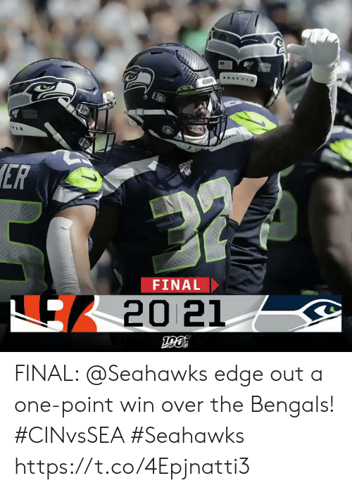 Memes, Bengals, and Seahawks: AWKS  ER  FINAL  20 21 FINAL: @Seahawks edge out a one-point win over the Bengals! #CINvsSEA #Seahawks https://t.co/4Epjnatti3