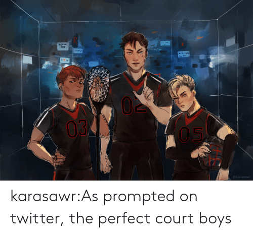 Perfections: AY  03  @karasawn karasawr:As prompted on twitter, the perfect court boys