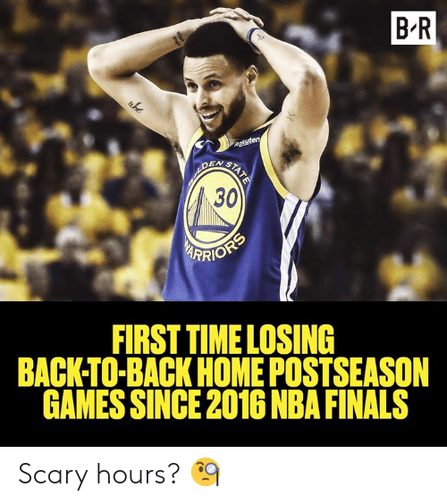 NBA Finals: B-R  EN S  30  YFRİOR  FIRST TIMELOSING  BACK-TO-BACK HOME POSTSEASON  GAMES SINCE 2016 NBA FINALS Scary hours? 🧐