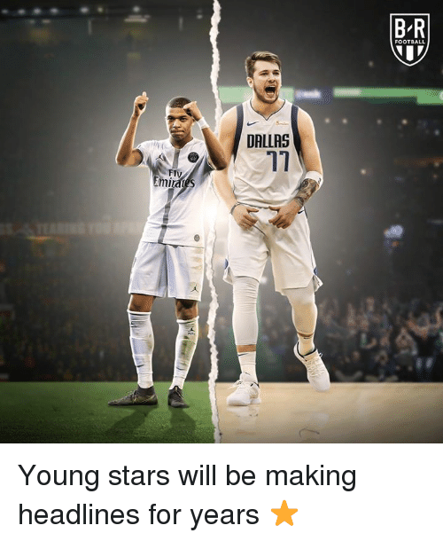 Football, Dallas, and Stars: B R  FOOTBALL  DALLAS  17  FIV Young stars will be making headlines for years ⭐