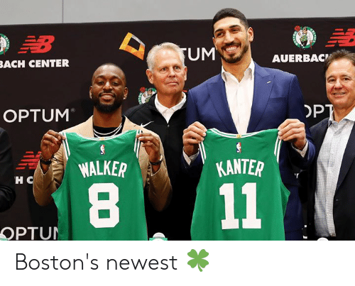 Bach, Opt, and Walker: B  UM  AUERBAC  BACH CENTER  OPT  OPTUM  KANTER  WALKER  HC  11  OPTUN Boston's newest 🍀