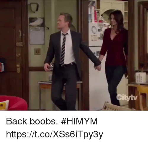 Sizzle: Back boobs. #HIMYM https://t.co/XSs6iTpy3y