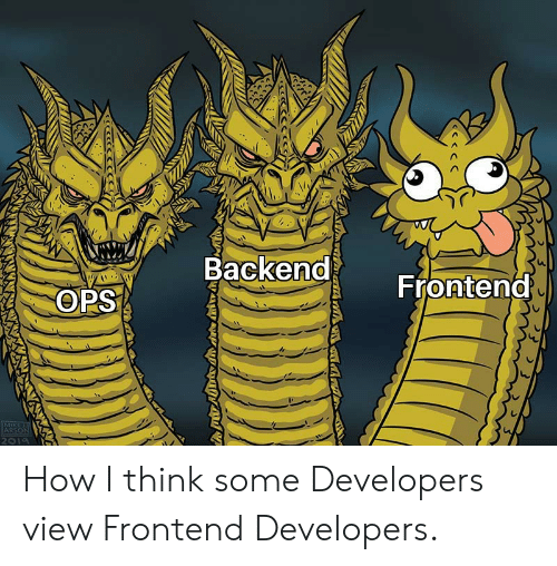 how view frontend developers some other developers