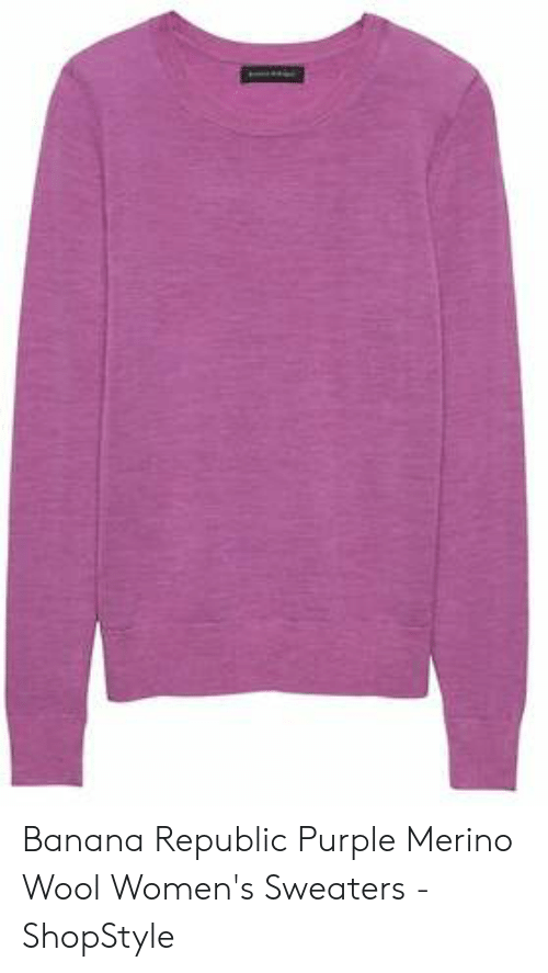 e3ca494e Banana, Banana Republic, and Purple: Banana Republic Purple Merino Wool  Women's Sweaters -