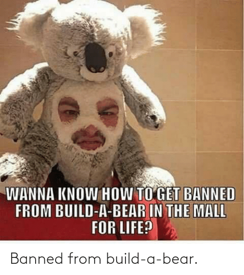 Bear: Banned from build-a-bear.
