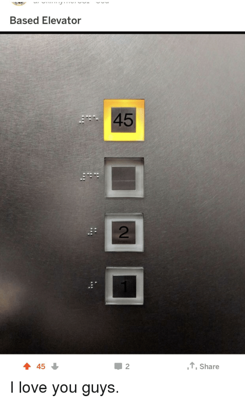 Love, I Love You, and You: Based Elevator  45  2  45  T Share