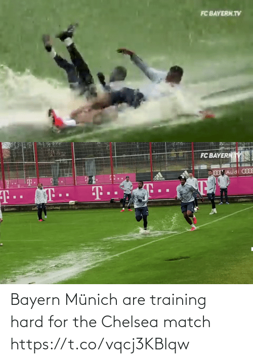hard: Bayern Münich are training hard for the Chelsea match  https://t.co/vqcj3KBIqw