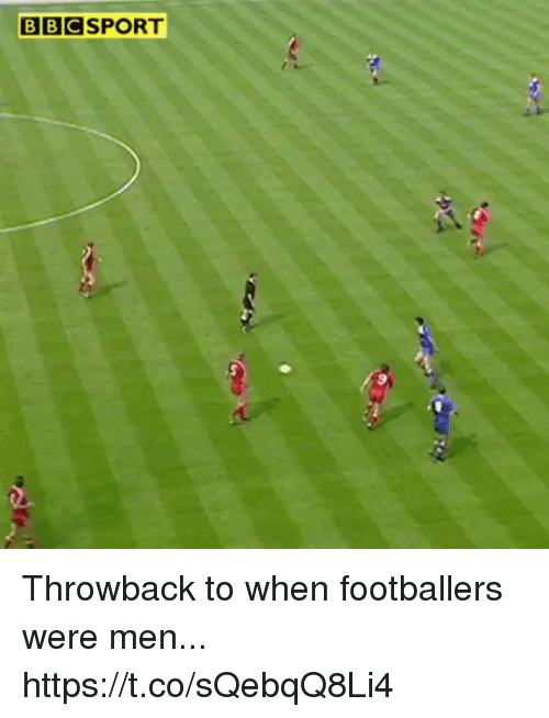 Sizzle: BBCSPORT Throwback to when footballers were men... https://t.co/sQebqQ8Li4
