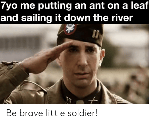 soldier: Be brave little soldier!