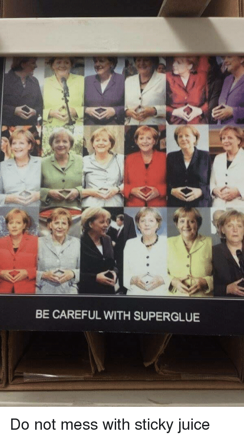 Juice, Be Careful, and Mess: BE CAREFUL WITH SUPERGLUE Do not mess with sticky juice