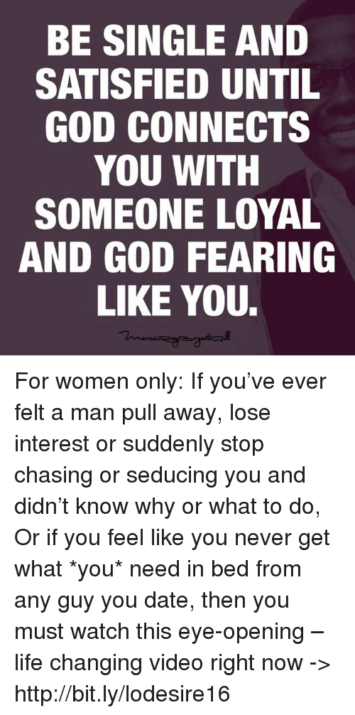 when a man loses interest in you