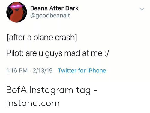 Beans After Dark After a Plane Crash Pilot Are U Guys Mad at
