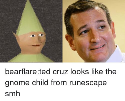 Smh, Target, and Ted: bearflare:ted cruz looks like the gnome child from runescape smh