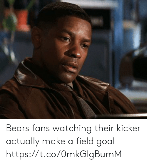 Football, Nfl, and Sports: Bears fans watching their kicker actually make a field goal https://t.co/0mkGIgBumM