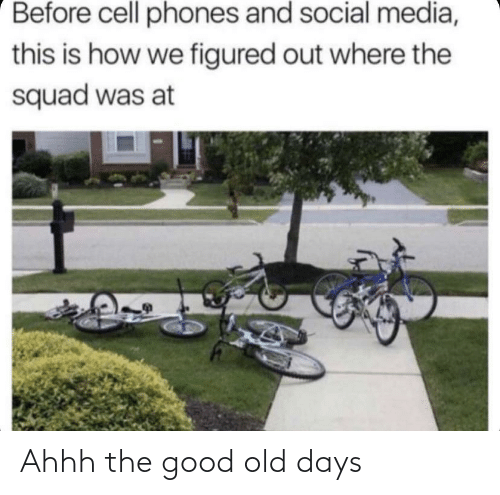 cell phones: Before cell phones and social media,  this is how we figured out where the  squad was at Ahhh the good old days