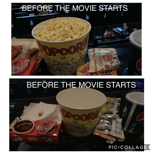 pic: BEFORE THE MOVIE STARTS  OPCOR  BEFORE THE MOVIE STARTS  OPCORM  R GOT  PIC•COLLAGE  SPOOPWAFELS  WARINARA