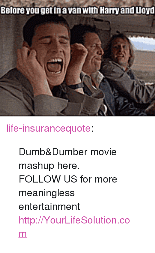 "Dumb, Life, and Tumblr: Before yougetinavan with Harry and Lloyd <p><a href=""http://life-insurancequote.tumblr.com/post/147155639435/dumbdumber-movie-mashup-here-follow-us-for"" class=""tumblr_blog"">life-insurancequote</a>:</p><blockquote> <p>Dumb&amp;Dumber movie mashup here. <br/></p> <p> FOLLOW US for more meaningless entertainment <a href=""http://YourLifeSolution.com"">http://YourLifeSolution.com</a><br/></p> </blockquote>"