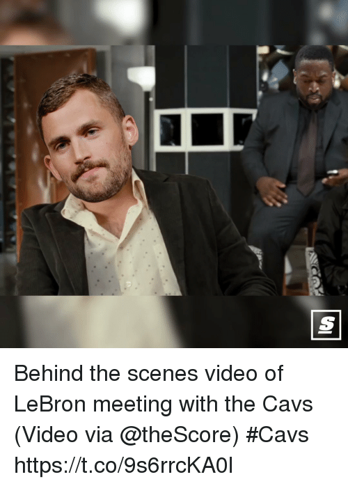 Cavs, Sports, and Lebron: Behind the scenes video of LeBron meeting with the Cavs   (Video via @theScore) #Cavs  https://t.co/9s6rrcKA0l