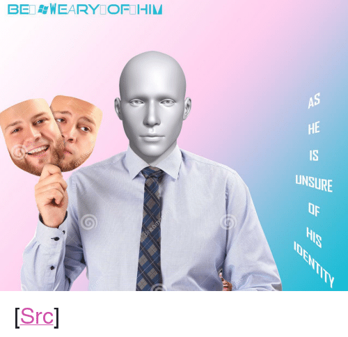 "Bei: BEI WEARY OFIHIM  AS  HE  IS  UNSURE  Op <p>[<a href=""https://www.reddit.com/r/surrealmemes/comments/89l0zg/be_always_%D9%82%D8%AFafraid_of_this_man_james_bro%D9%82wn_is/"">Src</a>]</p>"