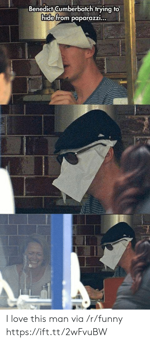 love-this-man: Benedict Gumberbatch trying to  hide from paparazzi... I love this man via /r/funny https://ift.tt/2wFvuBW