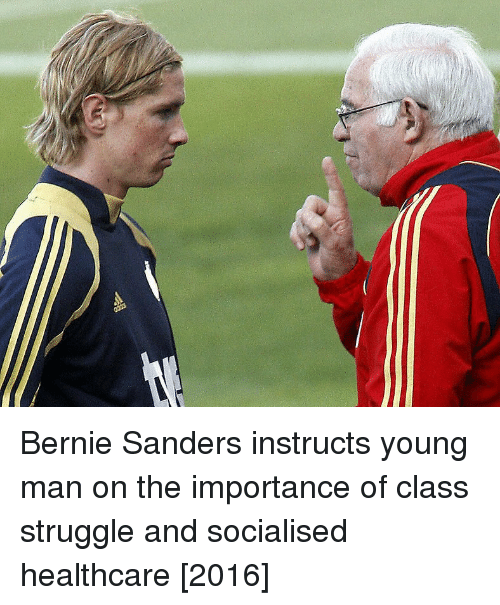 Bernie Sanders: Bernie Sanders instructs young man on the importance of class struggle and socialised healthcare [2016]