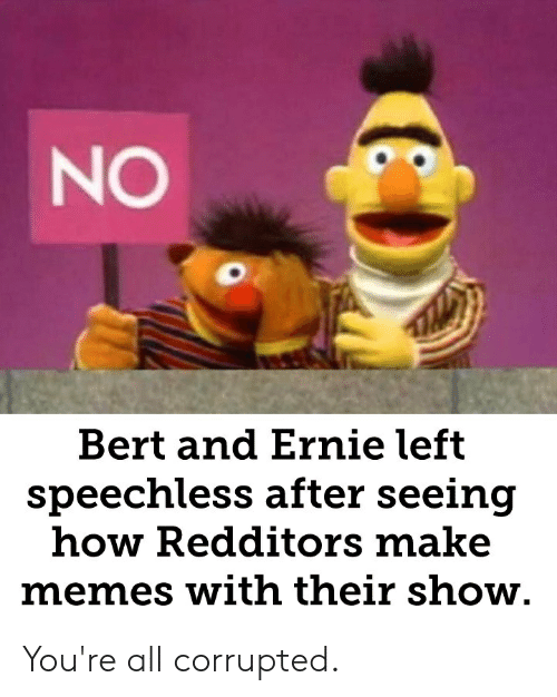 Bert And Ernie Left Speechless After Seeing How Redditors