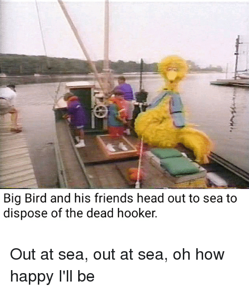 Big Bird And His Friends Head Out To Sea To Dispose Of The