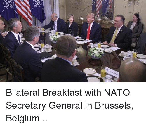 Belgium, Breakfast, and Nato: Bilateral Breakfast with NATO Secretary General in Brussels, Belgium...