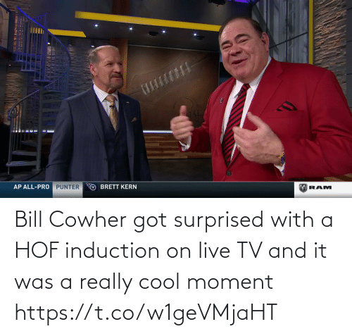 really: Bill Cowher got surprised with a HOF induction on live TV and it was a really cool moment   https://t.co/w1geVMjaHT