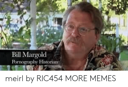 Dank, Memes, and Target: Bill Margolod  Pornography Historian meirl by RIC454 MORE MEMES