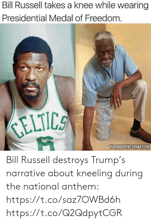 Trump: Bill Russell destroys Trump's narrative about kneeling during the national anthem: https://t.co/saz7OWBd6h https://t.co/Q2QdpytCGR